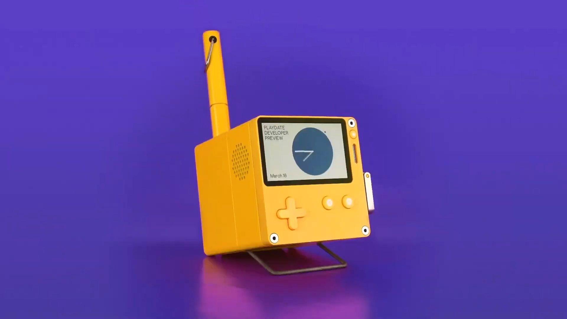 Что показали на презентации Playdate — карманной игровой консоли с механической рукояткой