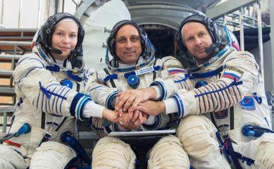 Юлия Пересильд и Клим Шипенко полетели в космос для съемок фильма «Вызов» на МКС